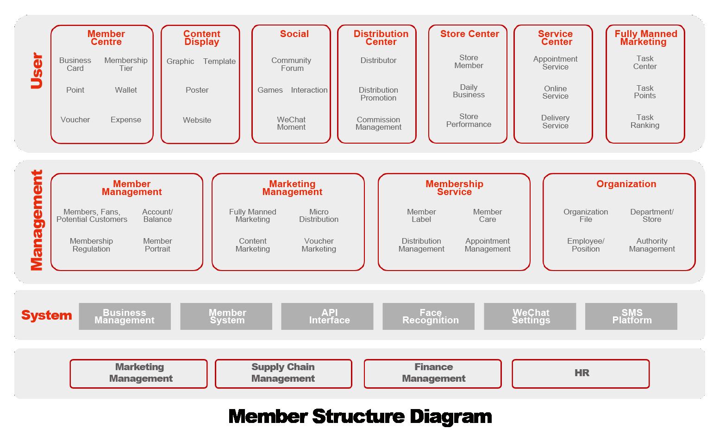 yonyou Member Structure Diagram